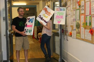 Tim in the 519 - Mad Pride Toronto Sign Party - June 4